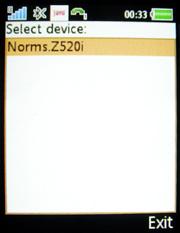 gefundenes Handy auswählen